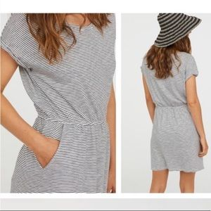 H&M Striped Dress with Pockets